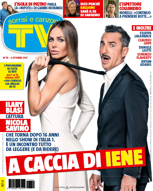 cover tv sorrisi e canzoni 3 ottobre 2017