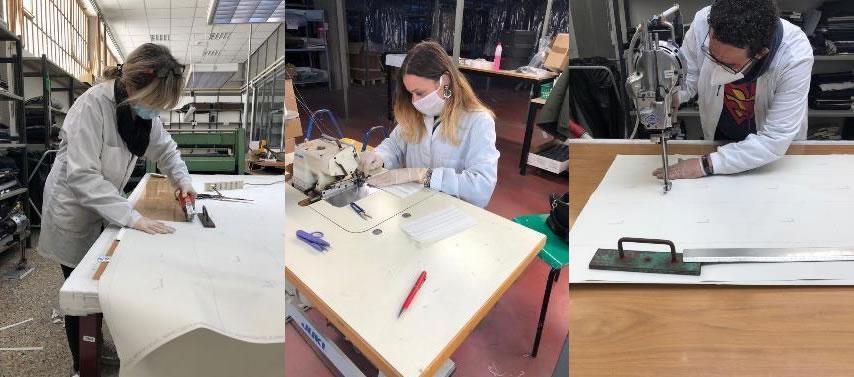Lebole converte la produzione in mascherine e camici